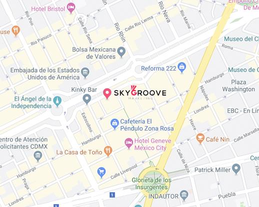 Mapa Skygroove